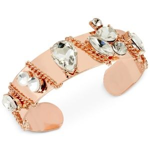 M. Haskell for INC Crystal Chain Cuff Bracelet